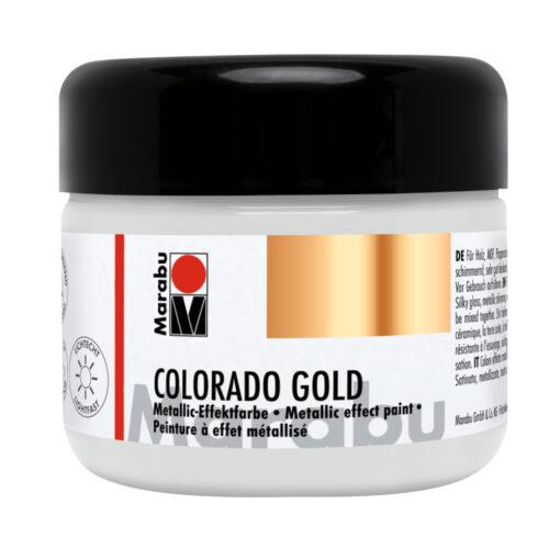 Marabu Colorado Gold Effektfarbe, Metallic-Silber