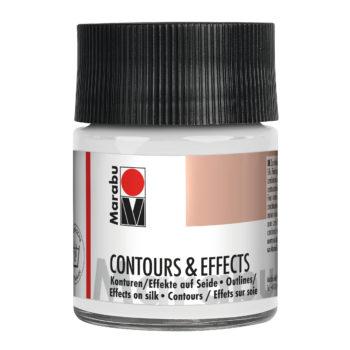 Marabu Contours & Effects, 50 ml Glas, farblos