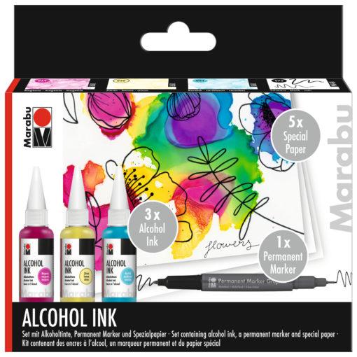 Marabu Alcohol-Ink-Set Flowers