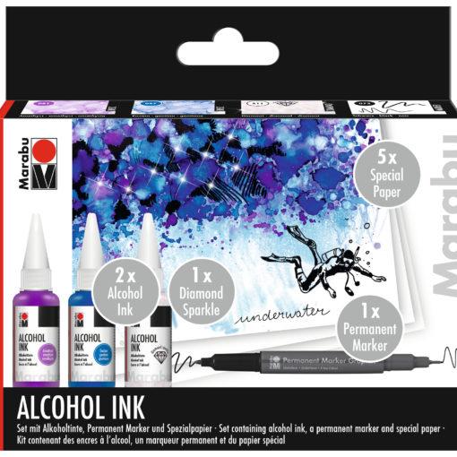 Marabu Alcohol Ink Set Unterwater