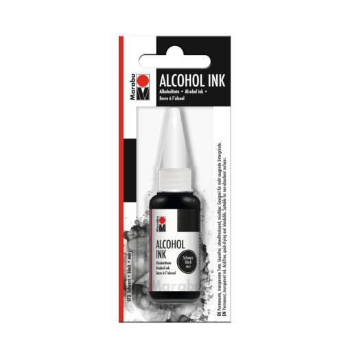 Marabu Alcohol Ink Tinte, schwarz, 20ml