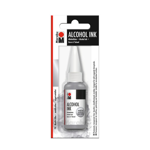 Marabu Alcohol Ink Tinte, metallic-silber, 20ml