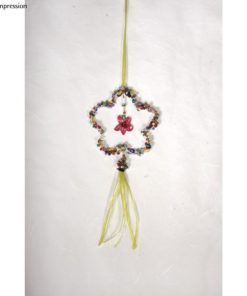 Drahtblume mit Perken, 7,5cm ø