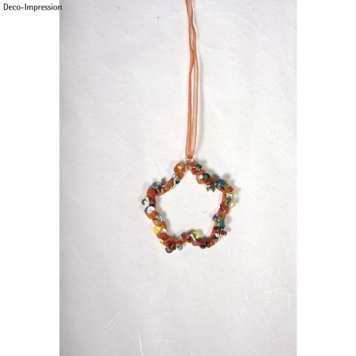 Drahtblume mit Perken, 5,5cm ø
