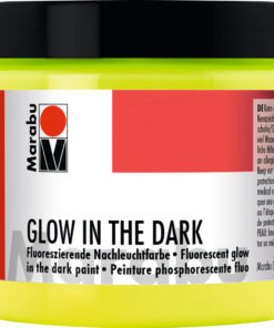 Marabu Nachtleuchtfarbe Glow in the Dark, Nachtleucht-Gelb, 200 ml
