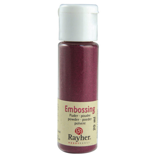 Rayher Embossing-Puder, bordeaux deckend, 20 ml