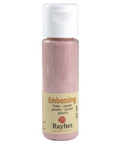 Rayher Embossing-Puder, rosé deckend, 20 ml