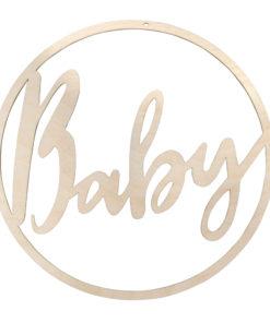 Rayher Holzkranz Baby, naturfarben, 30 cm Ø