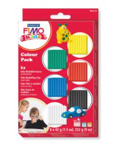 Staedtler FIMO kids Materialset Basic, 6 Blöcke à 42 g