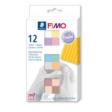 Staedtler Fimo soft Pastel Colours, 12 Halbblöcke á 25g
