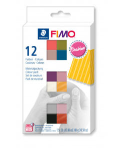 Staedtler Fimo soft Fashion Colours Farbenset, 12 Halbblöcke à 25g