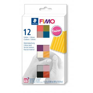 Staedtler Fimo soft Fashion Colours Farbenset, 12 Halbblöcke à 25g