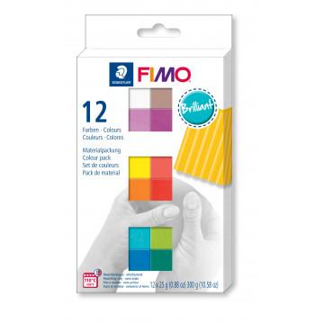 Staedtler Fimo Soft Brillant Colours, 12 Halbblöcke à 25g