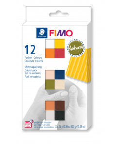 Staedtler Fimo soft Farbenset Natural Colours, 12 Halbblöcke á 25g