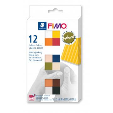 Staedtler Fimo soft Farbenset Natural Colours, 12 Halbblöcke á 25g