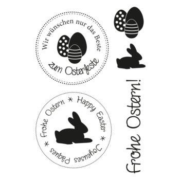 Efco Stempel Clear Stempelset, Ostern 1, 5-teilig