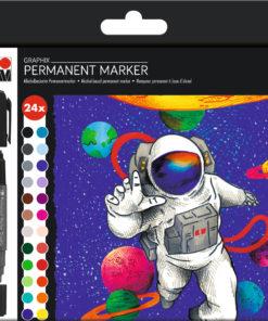 Marabu Permanentmarker Graphix-Set, Hero of Galaxy, 24 Stifte