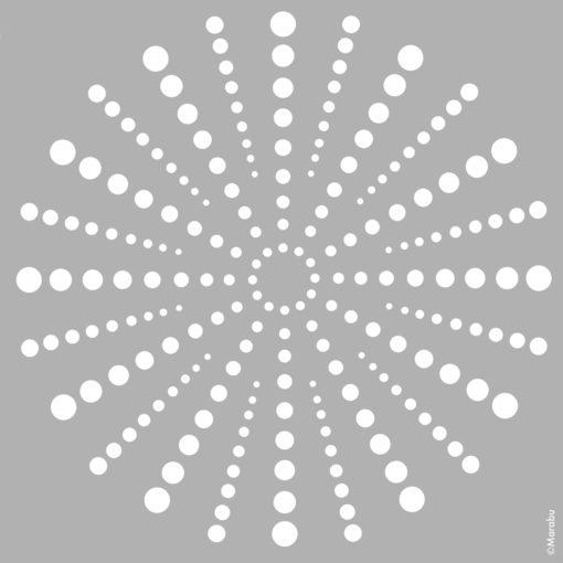 Marabu Schablone Beaming Dots, 33x33 cm, zum Schablonieren