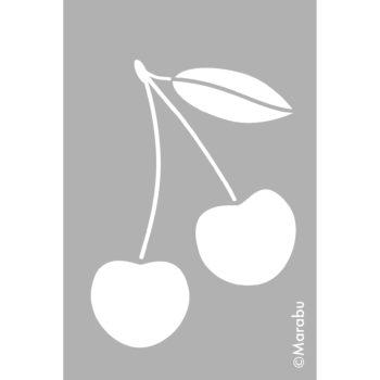 Marabu Schablone Cherry, 10x15cm, zum Schablonieren