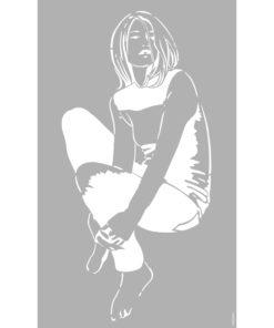 Marabu Schablone Smart Girl, 40x66 cm, zum Schablonieren