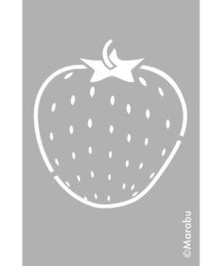 Marabu Schablone Strawberry 10 x15 cm, zum Schablonieren