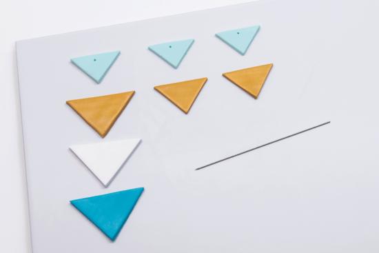 Dreiecke aus Fimo
