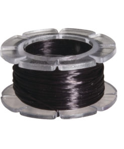 Rayher Gummifaden Magic Stretch, 0,8 mm Ø, schwarz, 5 m