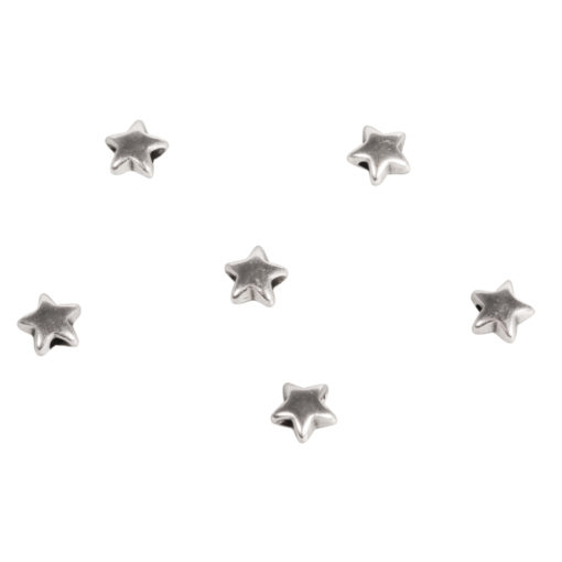 Rayher Metallperle, Stern, 5mm Ø, silber