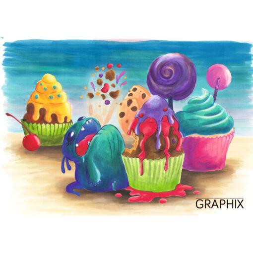 Bild mit Muffins