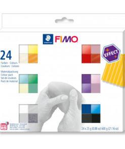 Staedtler Fimo effect 24 Halbblöcke, sortiert