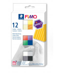 Fimo Effect , ofenhärtende Modelliermasse, 12 Halbblöcke à 25 g