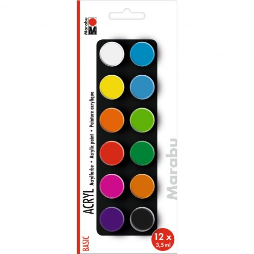Marabu Farbenset Basic, 12 x 3,5 ml
