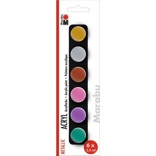 Marabu Farbenset metallic, 6 x 3,5 ml