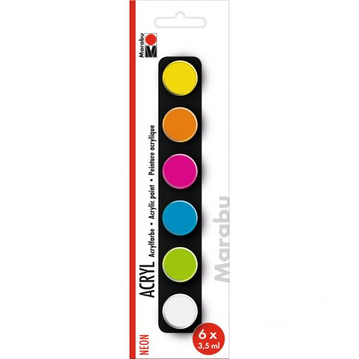 Marabu Farbenset, neonfarben, 6x3,5 ml