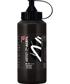 Marabu Künstler-Acrylfarbe, Lampenschwarz, 500 ml