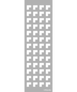 Schablone Bordüre Edges, zum Schablonieren