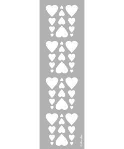 Schablone Bordüre Heart, zum Schablonieren