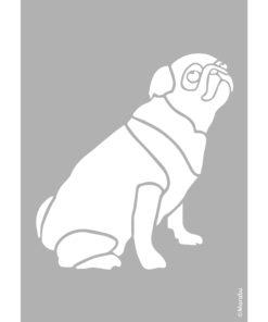 Schablone Pug Dog zum Schablonieren