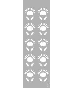 Schablone Flower Pattern zum Schablonieren