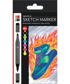 Marabu Sketch Marker-Set HEAT