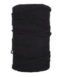 Garn, 2mm ø in schwarz zum Knüpfen und Basteln