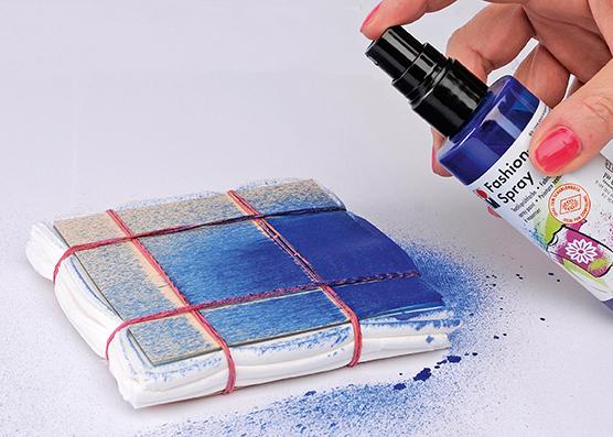 Fashion Spray in Blau.