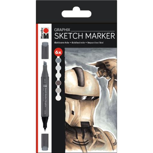 Tintenstifte Graphix-Set zum Zeichnen und Illustrieren