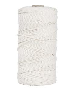 Garn, 2mm ø in weiß zum Knüpfen und Basteln