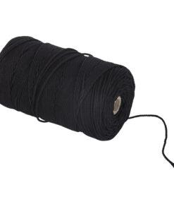 Baumwollgarn 2mm Ø, schwarz, zum Basteln