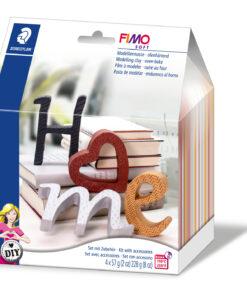 Ofenhärtende Modelliermasse, Deko-Set Letters