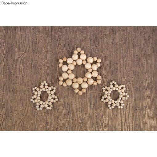 Bastelpackung Sterne aus Holzperlen