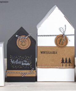 Clear Stamps - Weihnachtsgrüße auf Schachteln