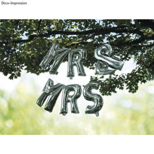 Folienballons MR & MRS