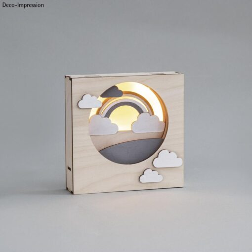 Holzbausatz 3D-Motivrahmen, Wolken